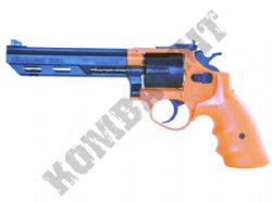 HG133 BB Gun Gas Powered Airsoft 6 Shot Revolver 2 Tone Orange Black
